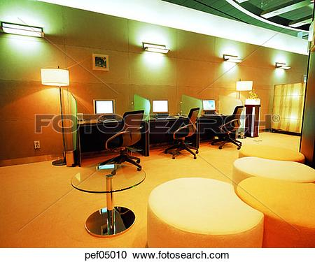 Stock Photography of rest room, internet, computer, light.