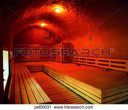 Stock Photography of sauna room, rest room, bathhouse, light.