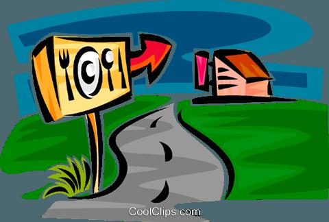 rest stop Royalty Free Vector Clip Art illustration.