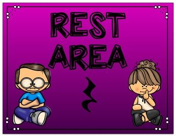 FREEBIE Rest Area Music Signs for Positive Classroom.