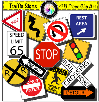 Traffic Signs Clip Art Growing Bundle.