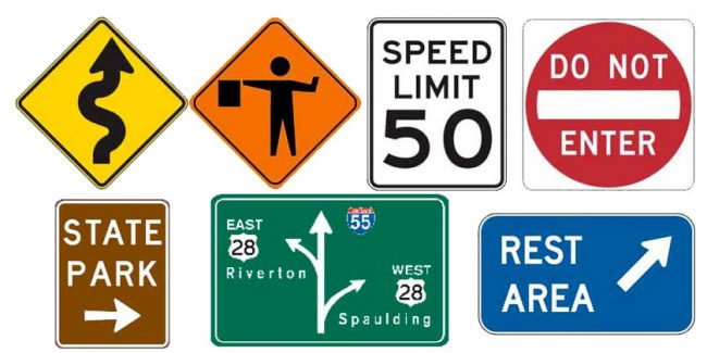 What are the Basic Colors of U.S. Road Signs?.