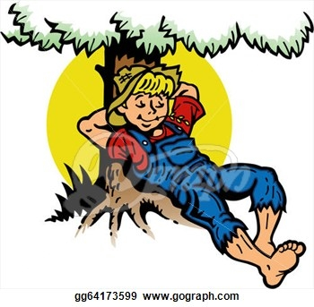 Rest Under The Tree Clipart.