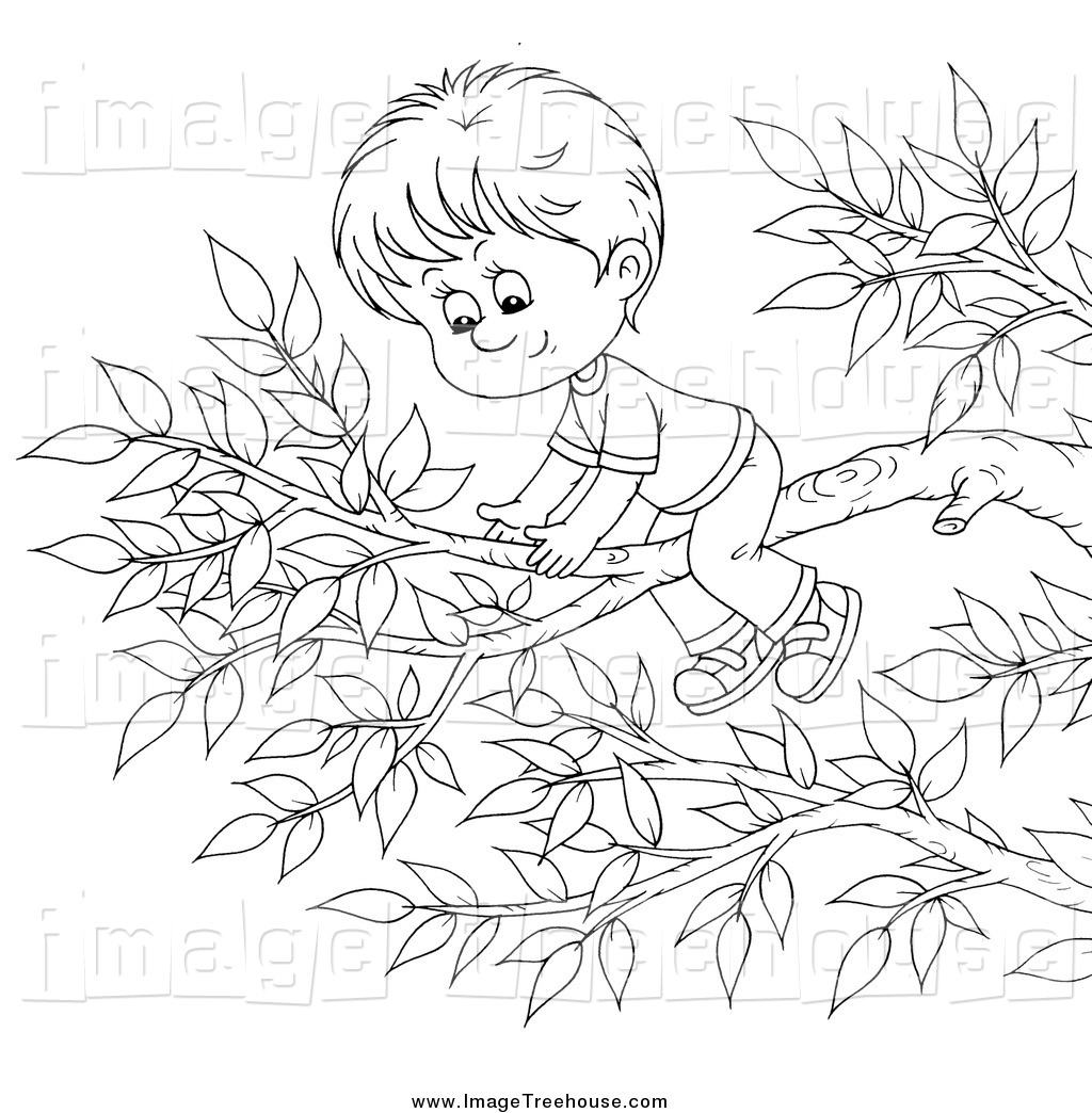 Under The Tree Clipart Black And White.