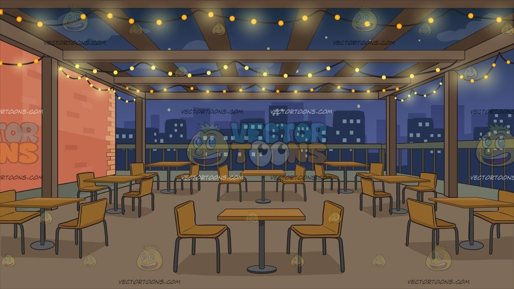 Manhattan Rooftop Restaurant Background.