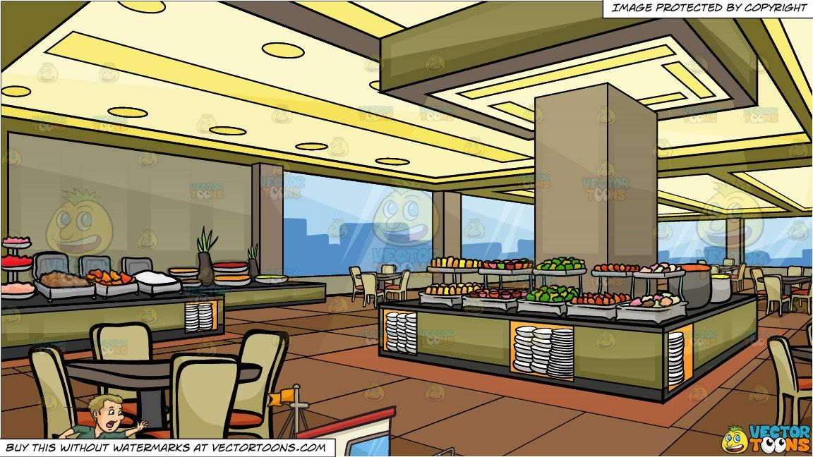 clipart #cartoon Miss The Boat and A Buffet Restaurant.