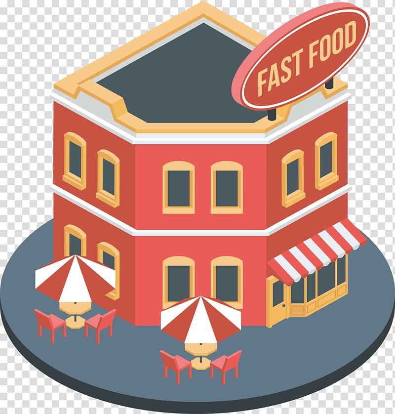 Fast food restaurant, Red fast.