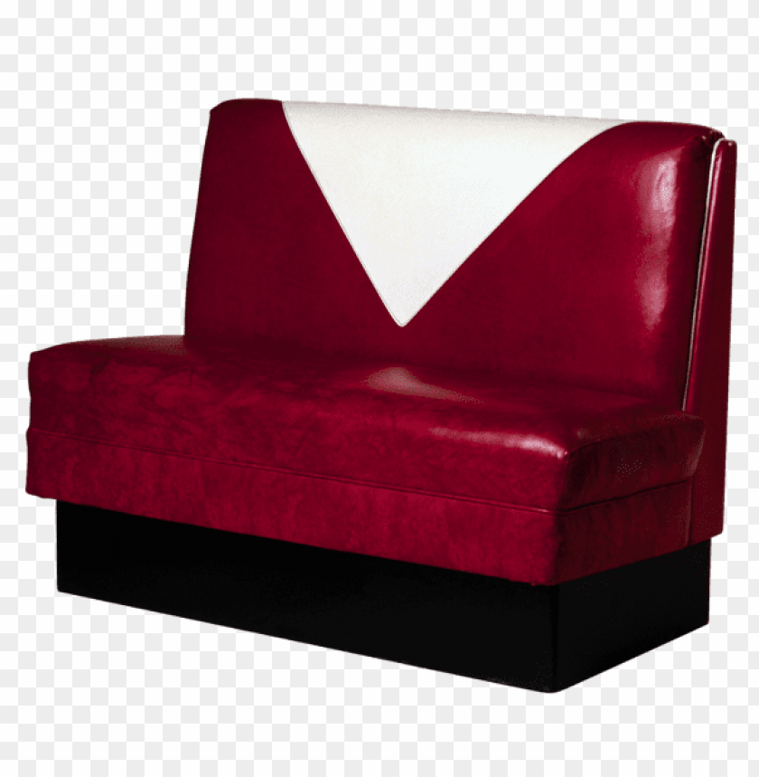 Download transparent red dining booth clipart png photo.