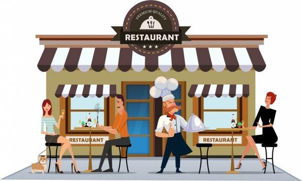Restaurants clipart exterior, Restaurants exterior.