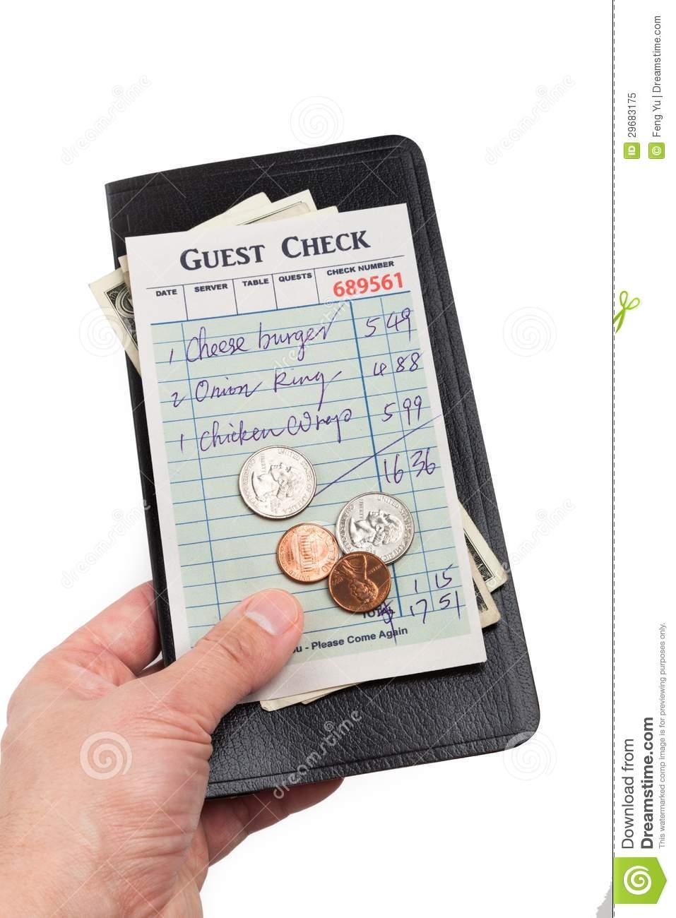 Restaurant Check Clipart.