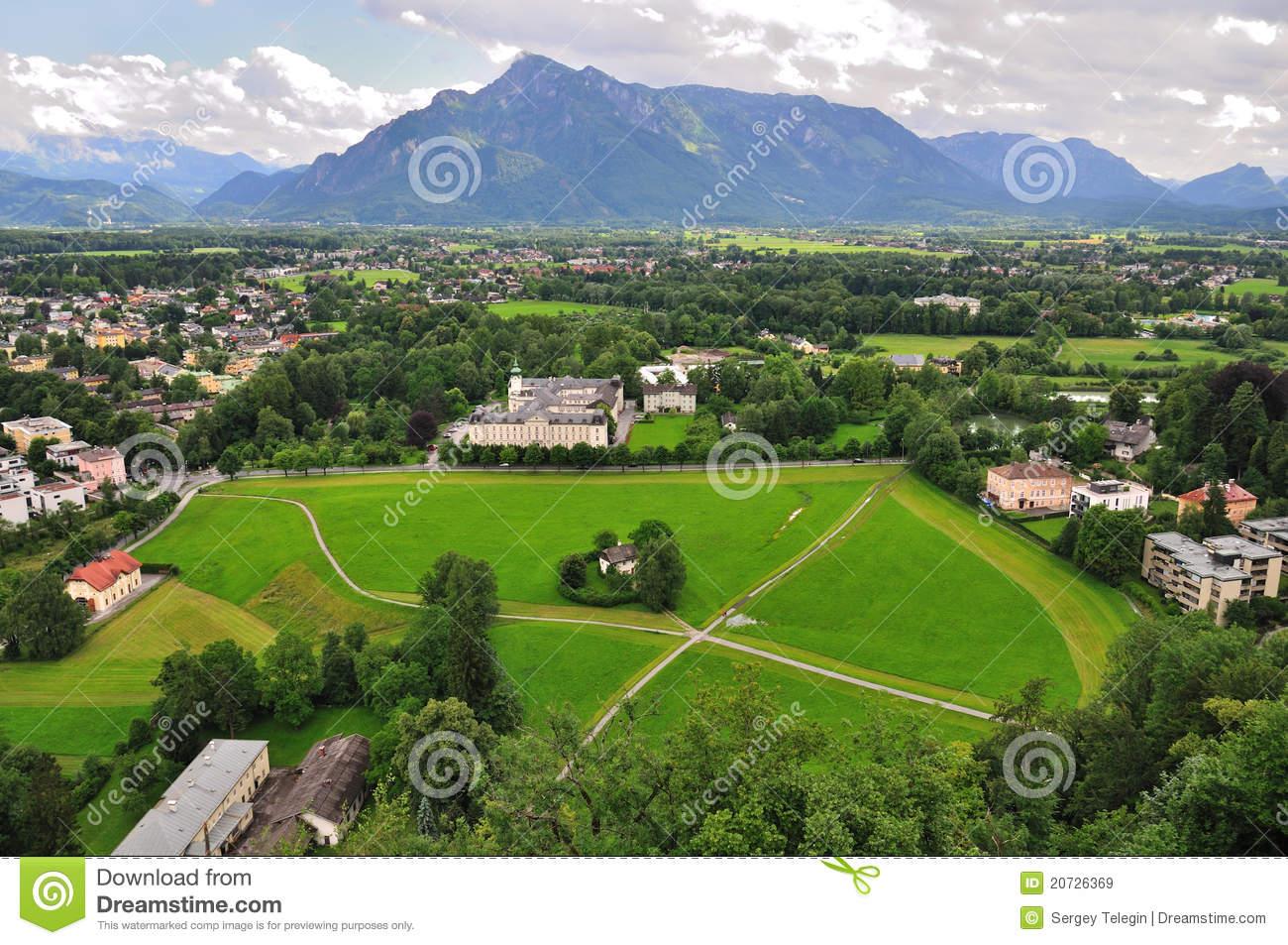 View From Hohensalzburg Castle, Salzburg, Austria Royalty Free.
