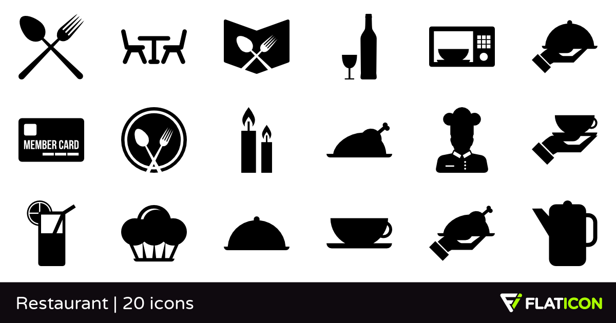 Restaurant 20 free icons (SVG, EPS, PSD, PNG files).