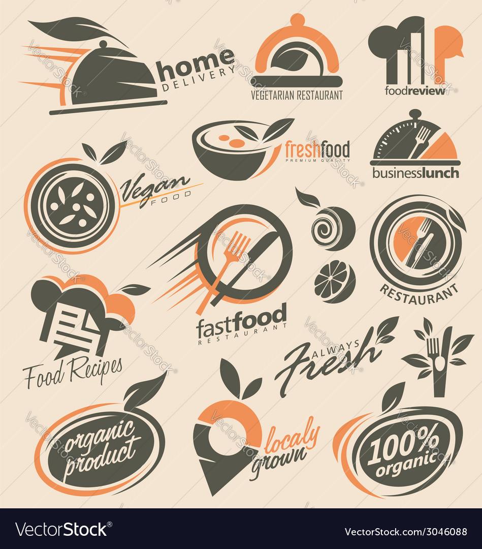 Food and restaurant logo designs.