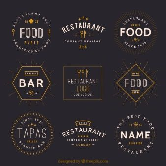 Vintage restaurant logos collection ….