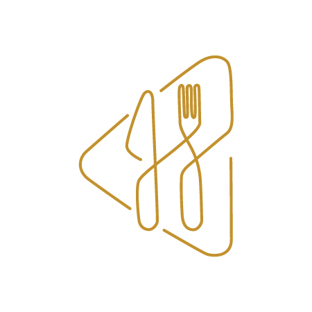 Restaurant logo designed in a really creative manner. Use.