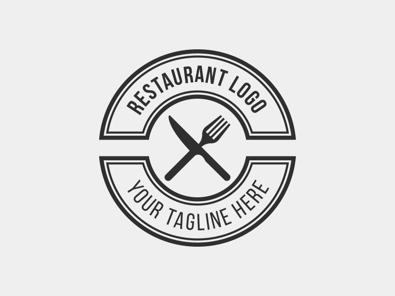 Restaurant Logo Template.