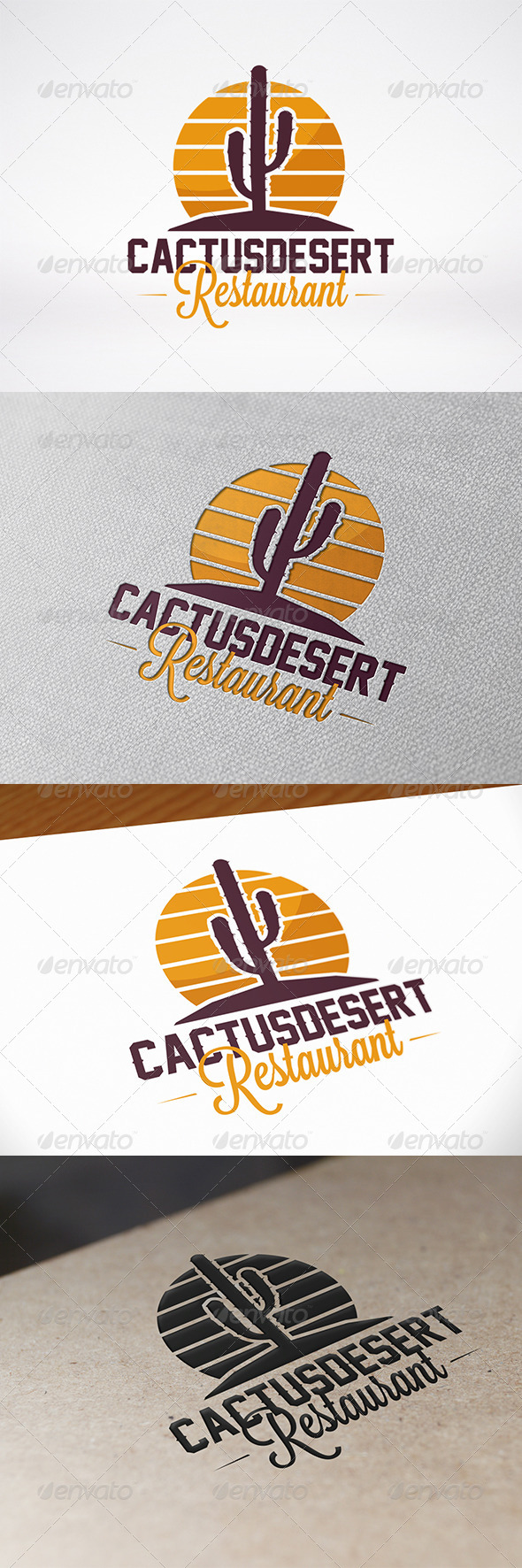 Desert Logo Templates from GraphicRiver.