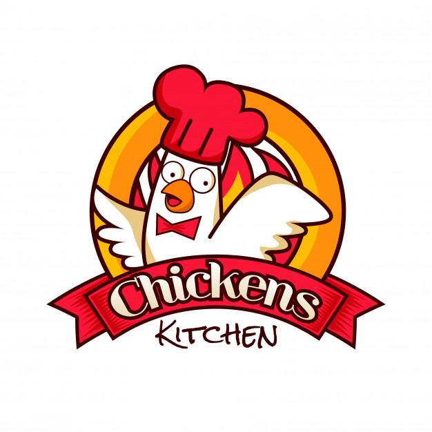 Chicken kitchen restaurant logo symbol Vector.