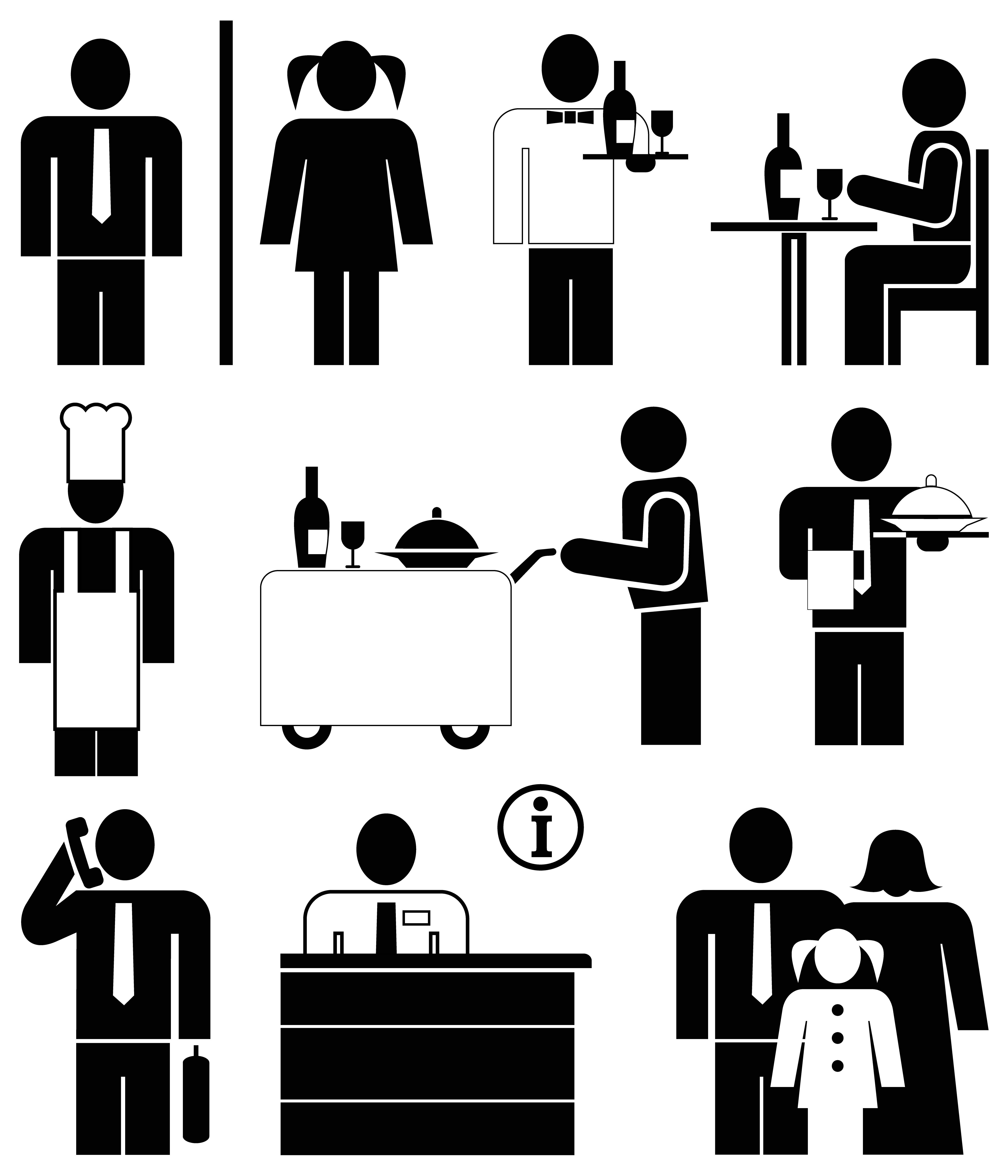 Restaurant icons.