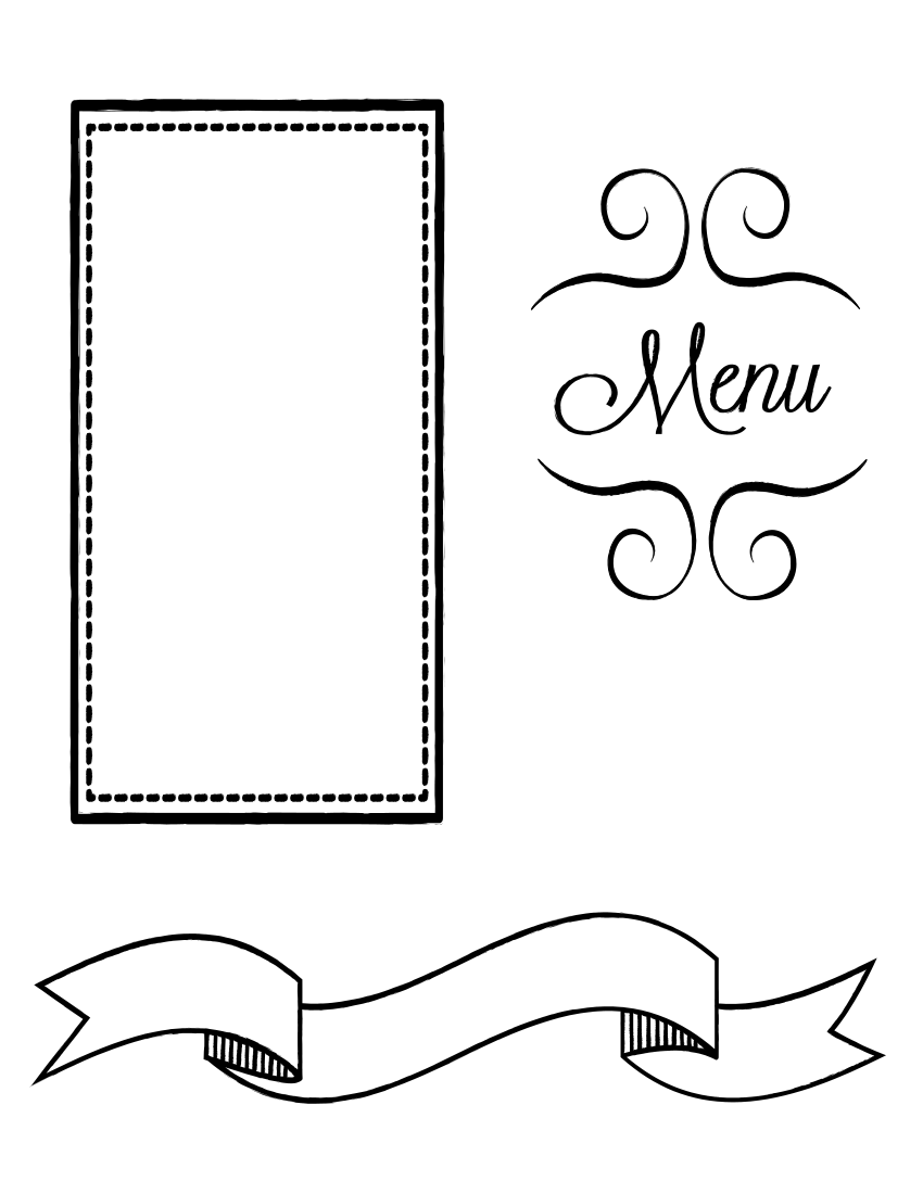 restaurant menu page.
