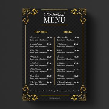 Restaurant Menu Png, Vector, PSD, and Clipart With.