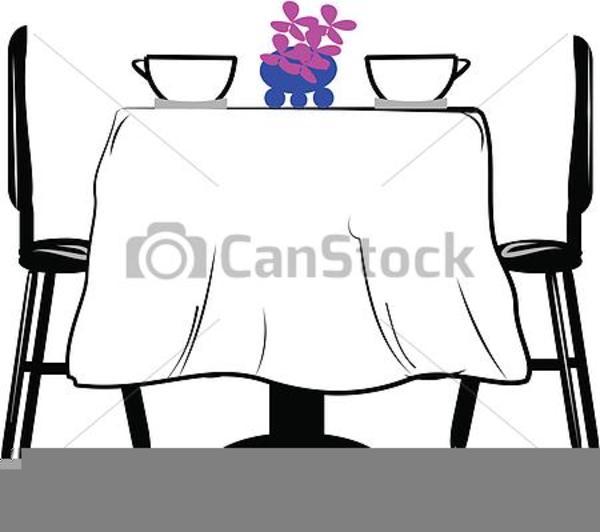 Restaurant Table Clipart.