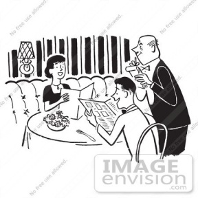 People Eating In Restaurant Clipart.