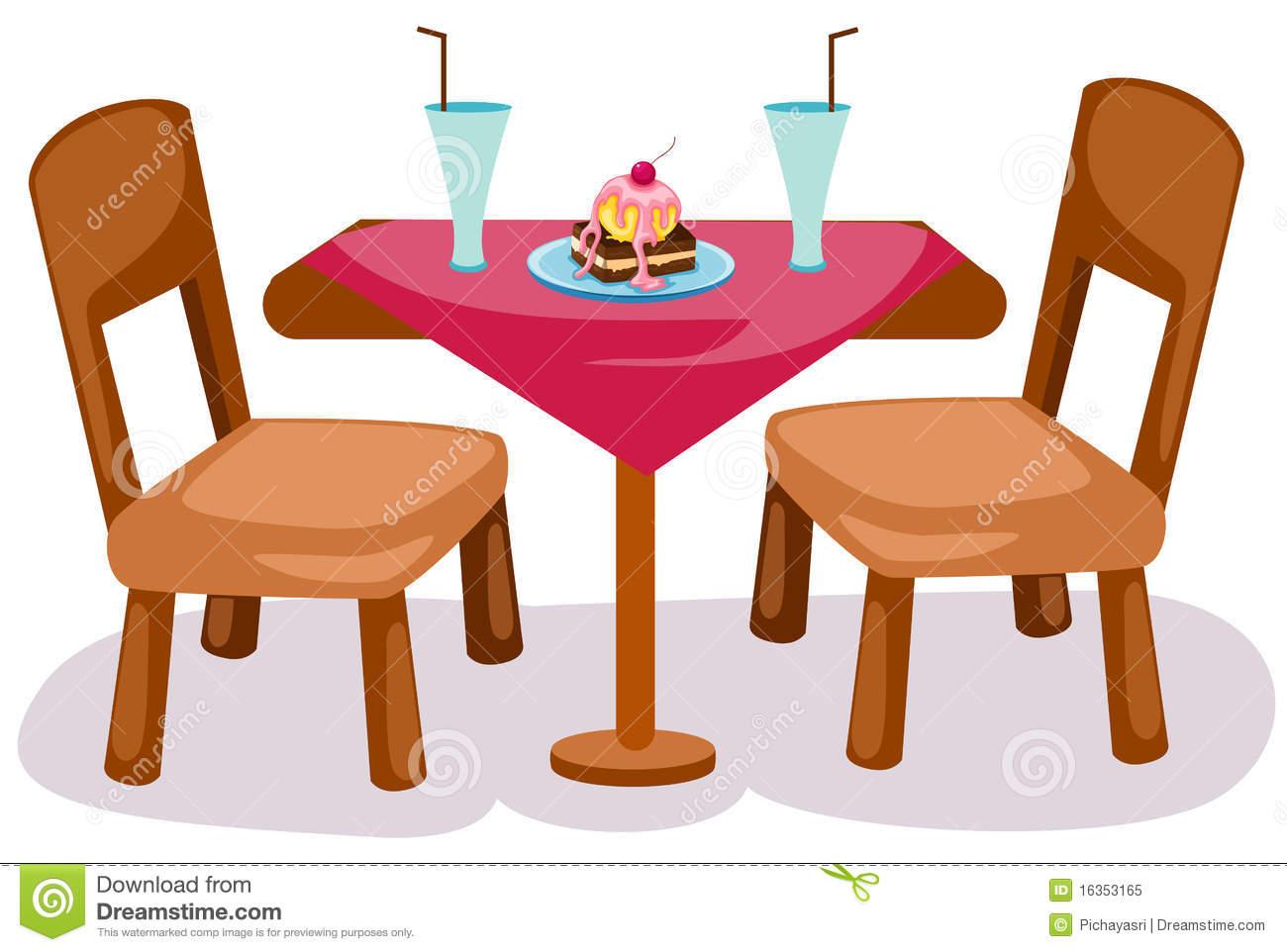 Restaurant Table Clipart Vector.