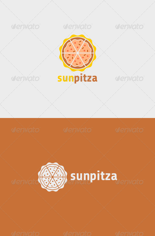 Sun Pitza Logo #GraphicRiver Sun Pitza Logo A simple logo.