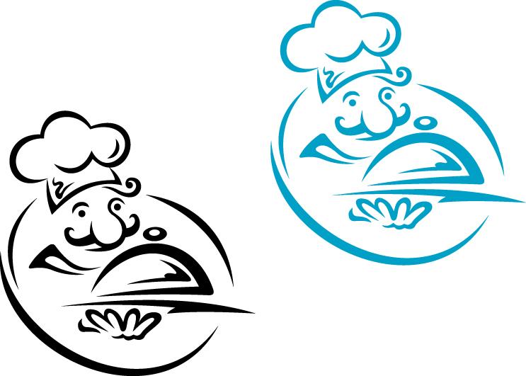 Restaurants logos 3 vector free download.