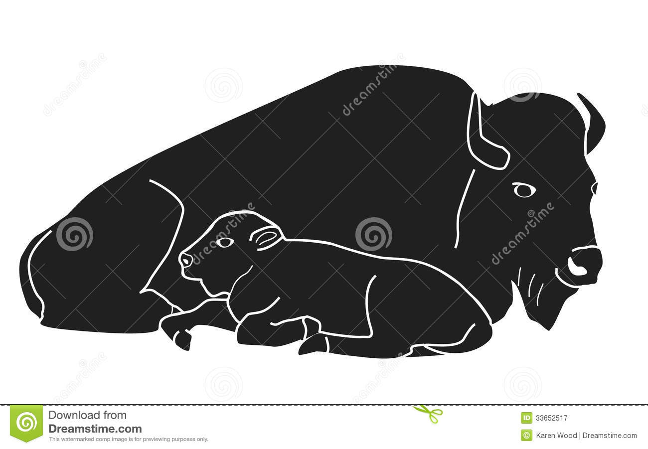 Baby Calf Laying Down Clipart.