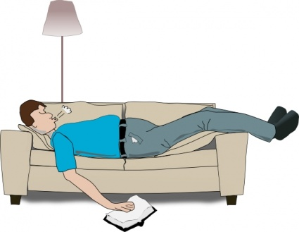 People resting clipart.