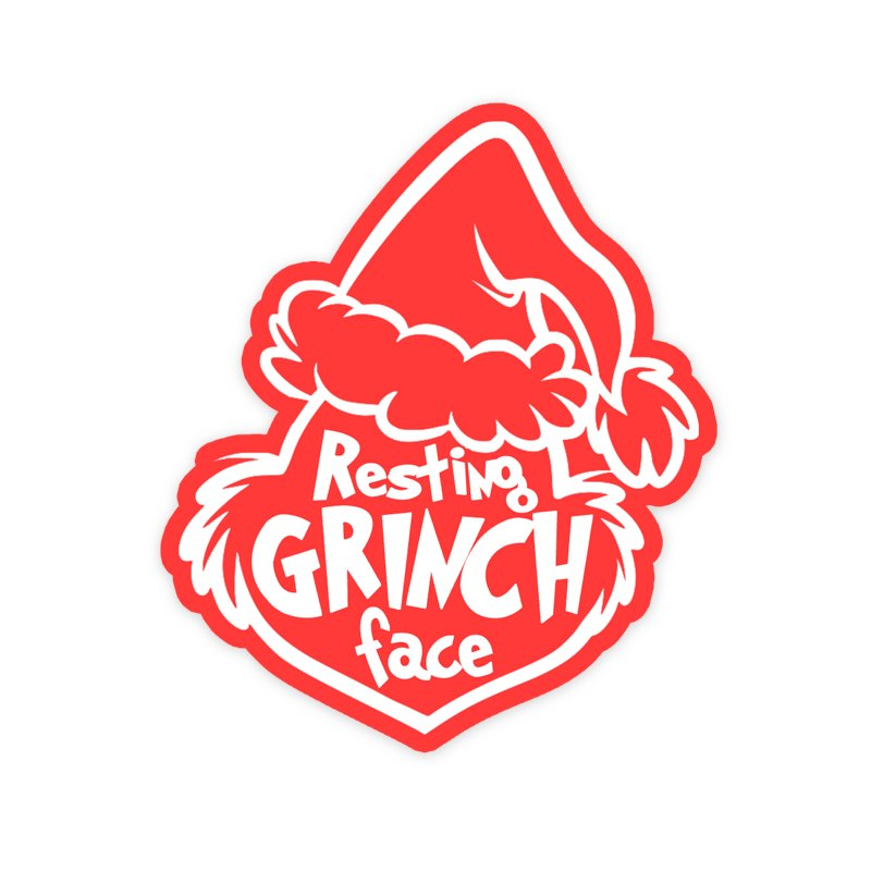 resting grinch face text add on.