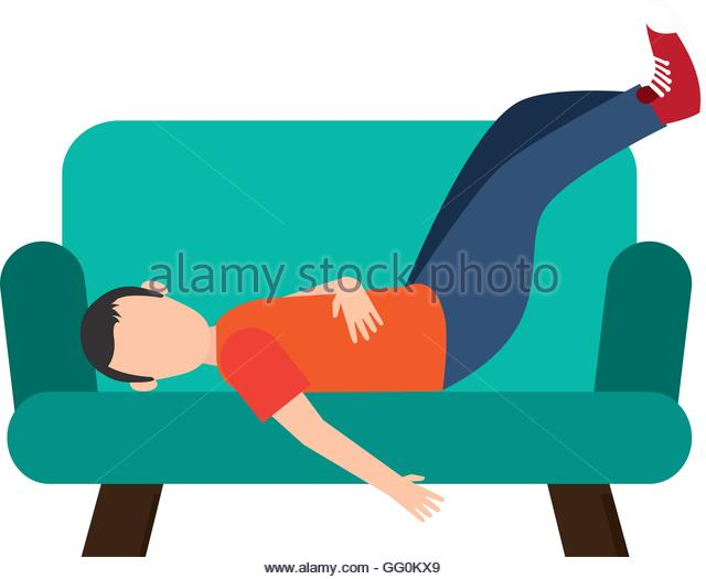 Human Resting Position Stock Vector Images.