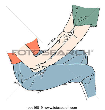 Drawing of Hand & forearm, resting position h103013.