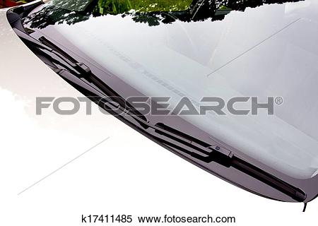 Stock Illustration of Windscreen Wipers In Resting Position On.
