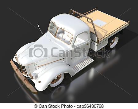 Stock Illustration of Old restored pickup. Pick.