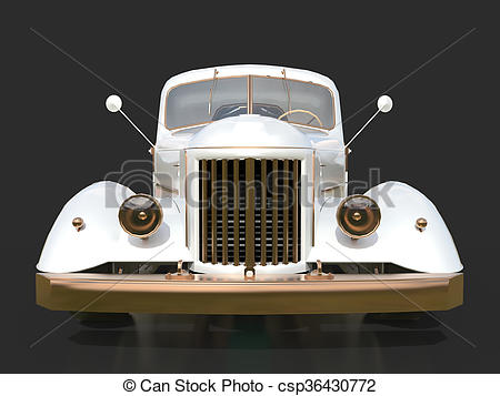 Stock Illustrations of Old restored pickup. Pick.