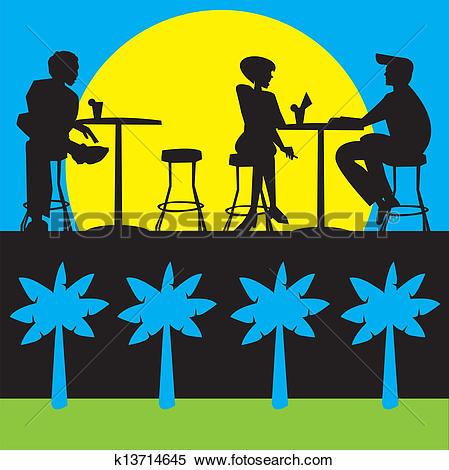 Clipart of Bar,restoring,terrace,coffee,drink k13714645.