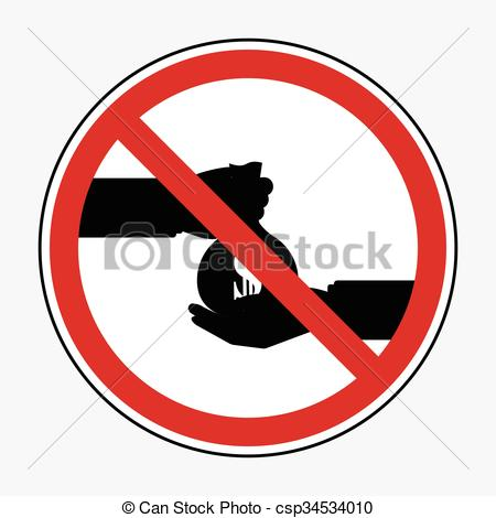 Vector Clip Art of Restrict sign no businessman take bribe from.