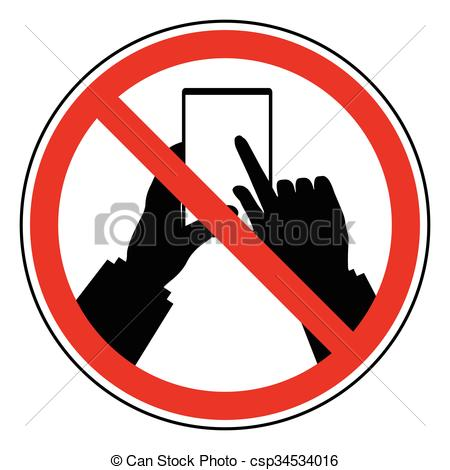 Vector Clip Art of Do Not Use Mobile Phone restrict sign. Prohibit.