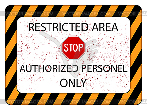 Restricted Area Clipart.