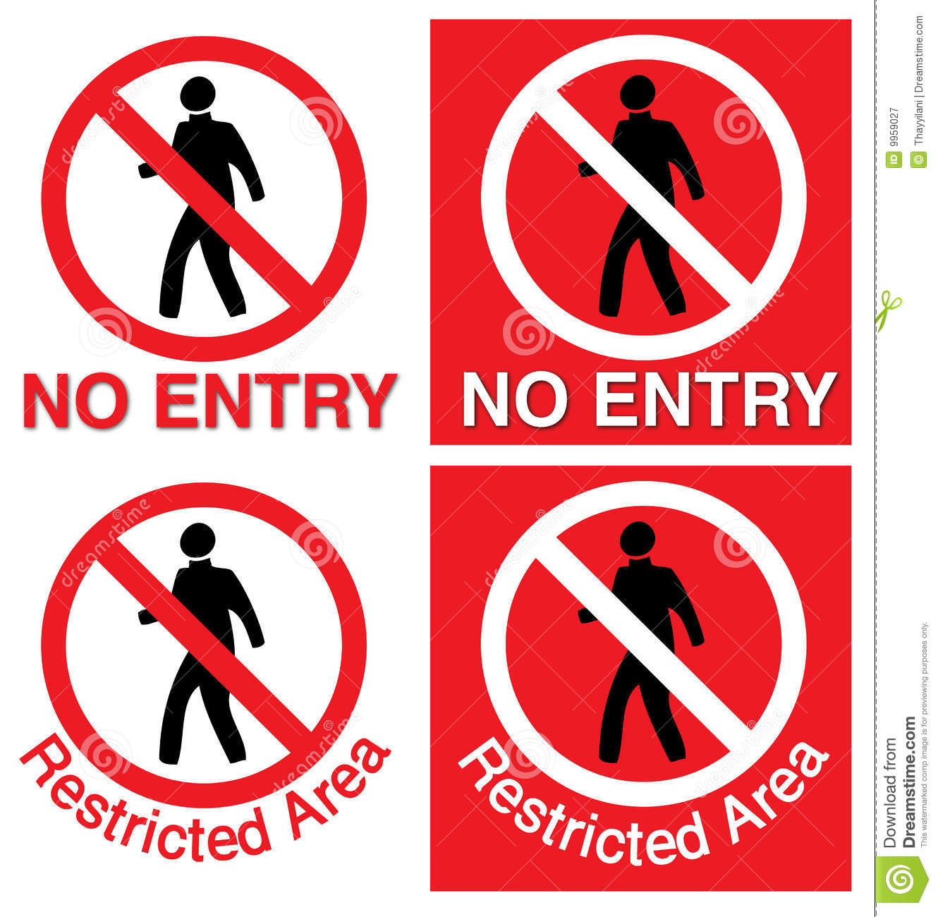 No Entry & Restricted Area Royalty Free Stock Photography.