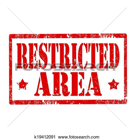Clipart of Restricted Area.
