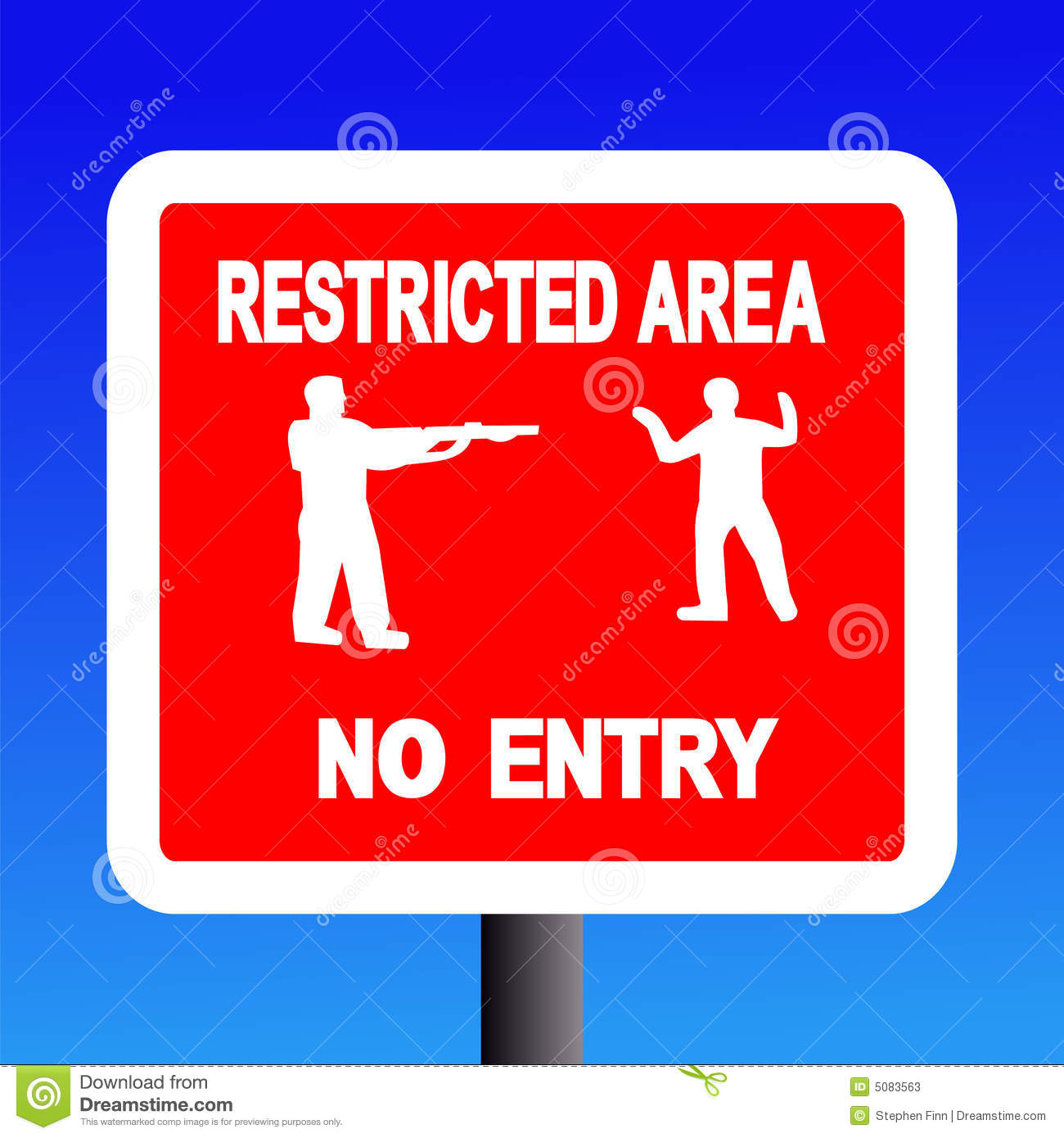 Restricted Area Sign Stock Photos.