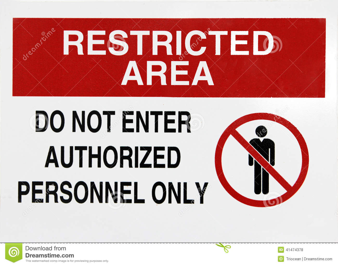 Restricted Area Royalty Free Stock Photography.