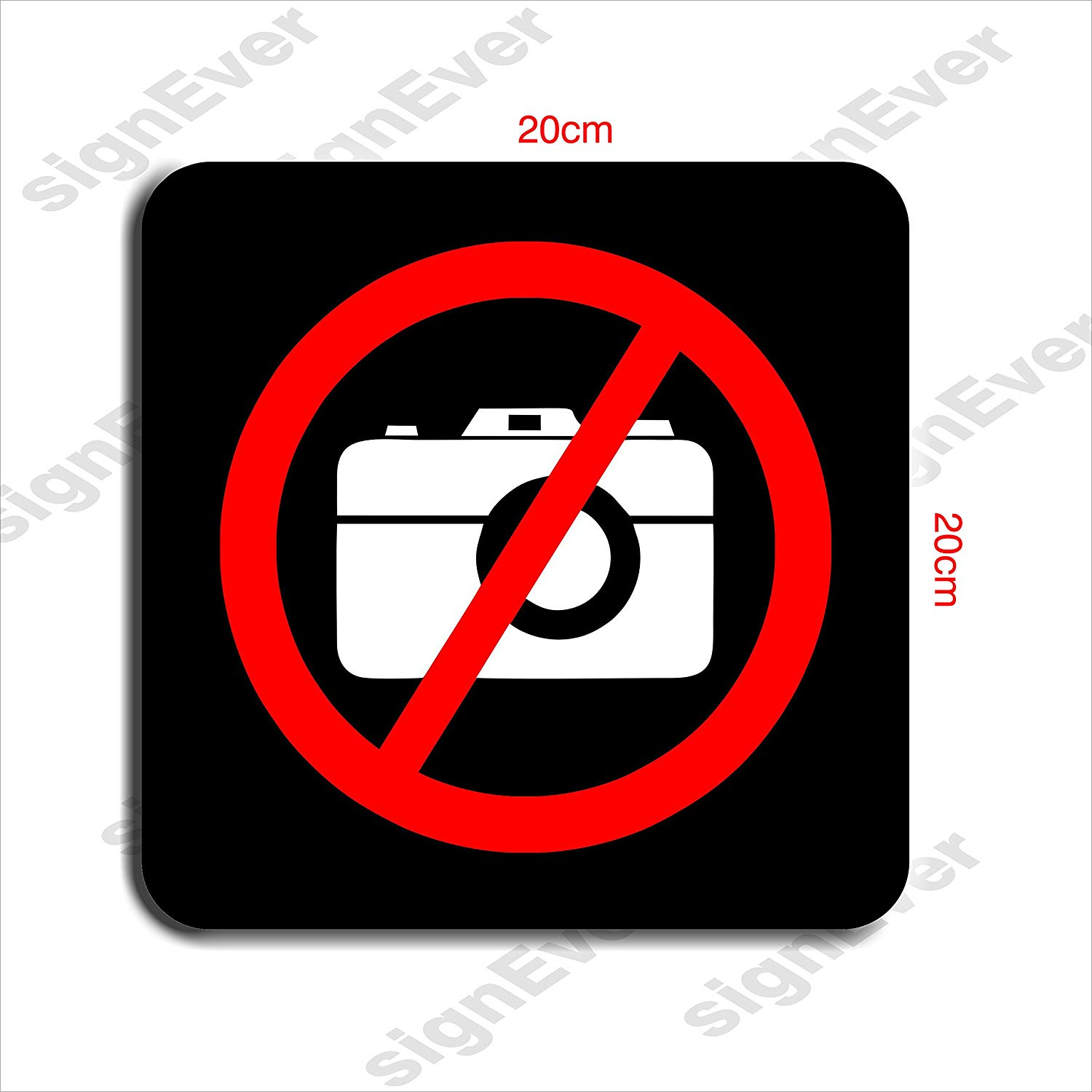 SIGN EVER Photography Restricted Logo Sign Board With Double.