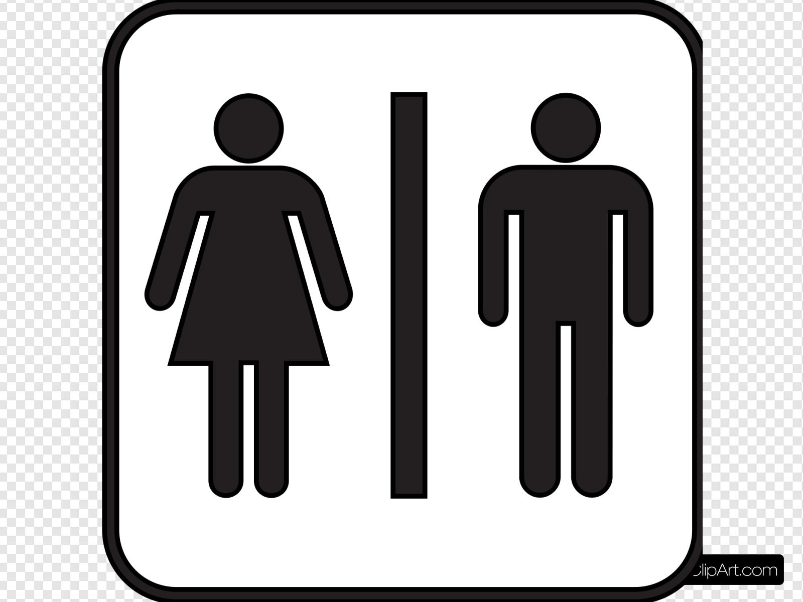 Woman Man Bathroom Clip art, Icon and SVG.