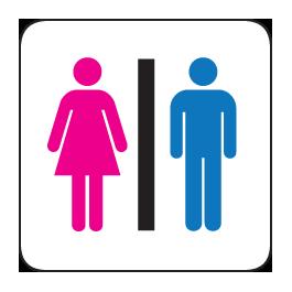 Restroom signs png 2 » PNG Image.