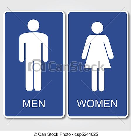 Clipart Vector of Restrooms Sign.
